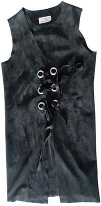 Maison Margiela Black Leather Leather jackets