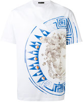Versace Medusa medallion print T-shirt - men - Cotton - S