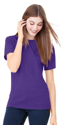 Clementine Apparel Womens Poly-Cotton Short-Sleeve T-Shirt