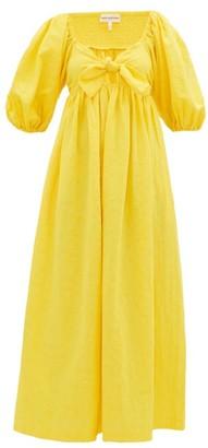 Mara Hoffman Violet Knotted Organic-cotton Midi Dress - Womens - Yellow