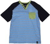 Buffalo Nifkopp Henley Tee (Toddler/Kid) - Whale Combo-X-Large