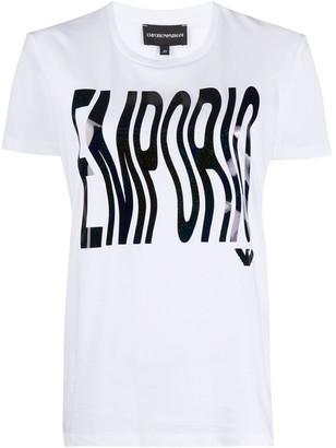 Emporio Armani distorted logo print T-shirt