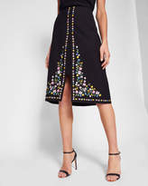 Ted Baker Hampton Court embroidered skirt