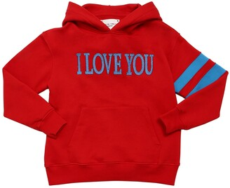 Alberta Ferretti I Love You Cotton Sweatshirt Hoodie