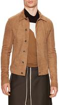 Rick Owens Leather Spread Collar Jacket