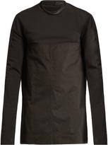 Rick Owens Contrast-neck cotton sweater
