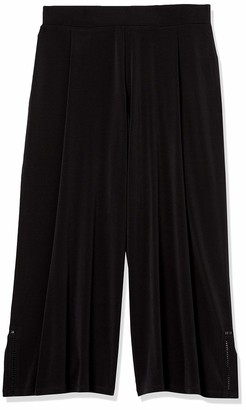 Rafaella Women's Solid Crop Pant with Trim