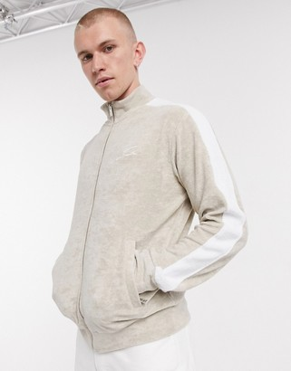 The Couture Club co-ord track jacket with contrast panel in beige