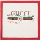 Gucci Printed Silk-twill Scarf - Ivory