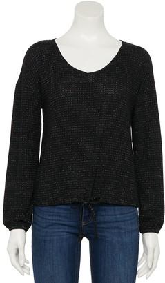 Lauren Conrad Women's Drawstring Hem Sweatshirt