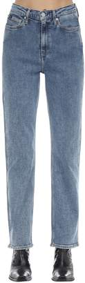 Calvin Klein Jeans High Rise Straight Cotton Denim Jeans