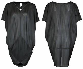 Format Tent Dress Silk - black / XS-S