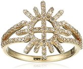 Jade Jagger Insiginia Star and Garter 14ct Yellow Gold and Diamond Ring - Size L