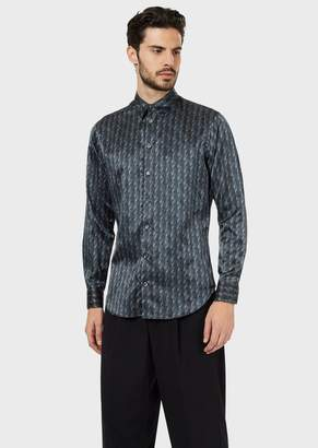 Giorgio Armani Slim-Fit Shirt In Exclusive Patterned Fabric