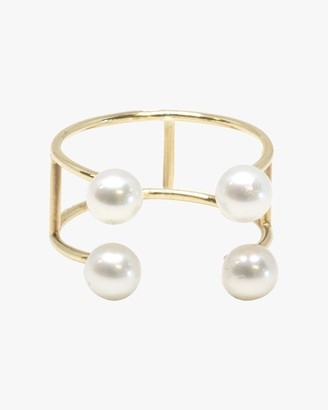 Poppy Finch Double Baby Pearl Ring