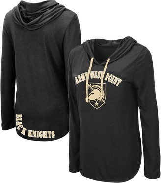 Colosseum Women's Black Army Black Knights My Lover Hooded Long Sleeve T-Shirt