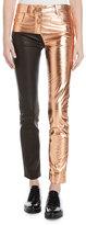 Haider Ackermann Two-Tone Metallic Leather Leggings, Multi
