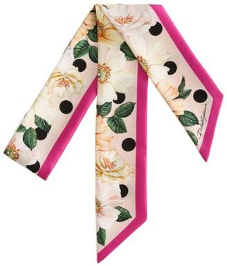 Dolce & Gabbana Silk Floral Print Scarf