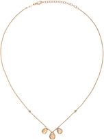 Jacquie Aiche Rose Gold 3 White Opal Teardrop 2 Diamond Bezel Necklace