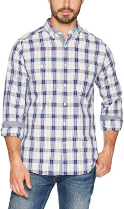 Nautica Men's Long Sleeve Chambray Button Down Shirt