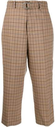 Berwich check cropped trousers