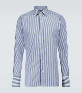 Tom Ford Long-sleeved striped cotton shirt