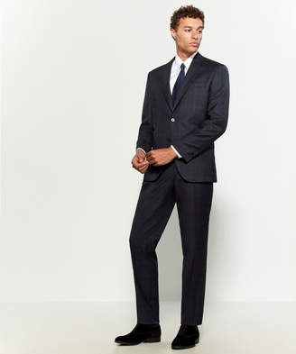 Jack Victor Two-Piece Napoli Plaid Wool Suit