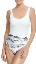 Onia Kelly Printed One-Piece Swimsuit, White Pattern