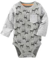 Osh Kosh Zebra Print Pocket Bodysuit