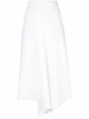 Tibi Compact Suiting Drape Skirt