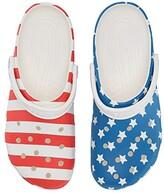 Crocs Classic American Flag Clog (White/Multi) Shoes