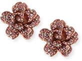 Jose & Maria Barrera Crystal Rose Clip-On Earrings