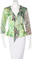 Just Cavalli Silk Long Sleeve Blouse