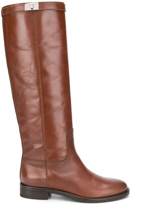 Via Roma 15 Knee-High Leather Boots