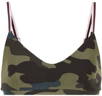 The Upside Army Camo Ballet sports bra