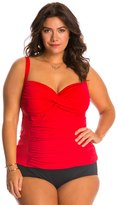 LaBlanca La Blanca Plus Size Core Solid Sweetheart Tankini Top 8127493