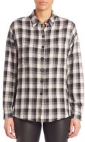 SET Plaid Button-Front Shirt