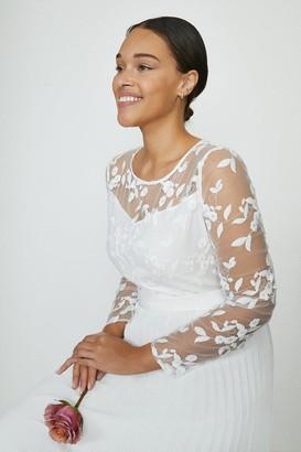 Coast Curve Embroidered Long Sleeve Maxi Dress