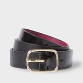 Paul Smith Women's Black Leather Contrast Tip Belt