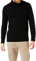 Dockers Textured Knit Turtle Neck Jumper, Black