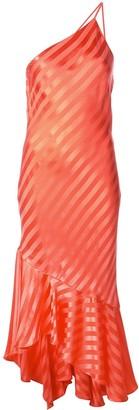 Mason by Michelle Mason One-Shoulder Ruffled Hem Dress