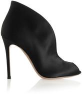 Gianvito Rossi Vamp 100 Satin Ankle Boots - Black
