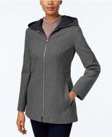 London Fog Petite Hooded Walker Coat