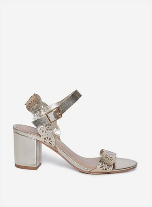 Dorothy Perkins Womens Wide Fit Gold 'Sprice' Heeled Sandals, Gold