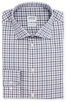 Armani Collezioni Modern Fit Bold-Check Dress Shirt, Gray