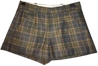 Maje \N Grey Wool Shorts