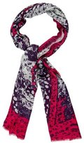 Diane von Furstenberg Multicolor Abstract Scarf
