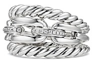 David Yurman Wellesley Three Row Ring with Diamonds