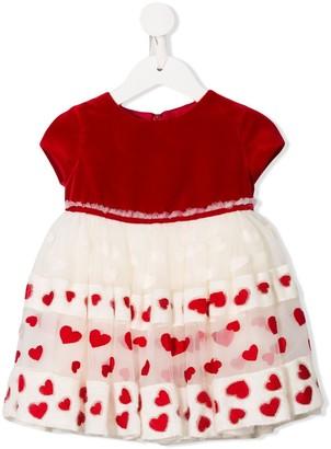 MonnaLisa Heart Pattern Dress