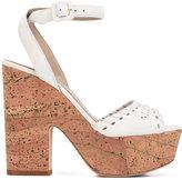 Le Silla cork platform sandals - women - Leather/Suede - 37